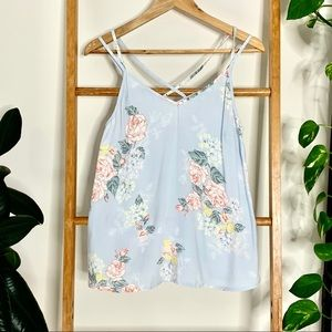 Lily Loves Baby Blue Pastel Floral Camisole